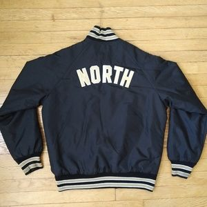 "Vintage ""NORTH"" Gold & Black Raptors Type Bomber"